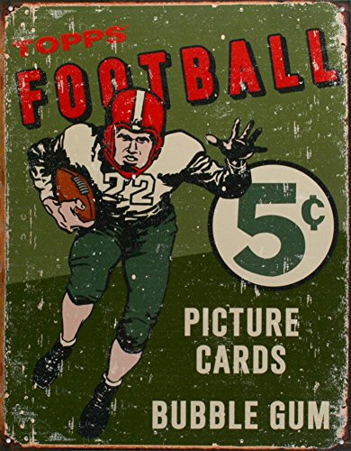 Topps 1956 Football Metal Tin Sign 12.5W x 16H , 13x16