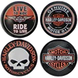 Harley-Davidson Core Collection Magnets, 4 Pack of Famous H-D Logos DM11966