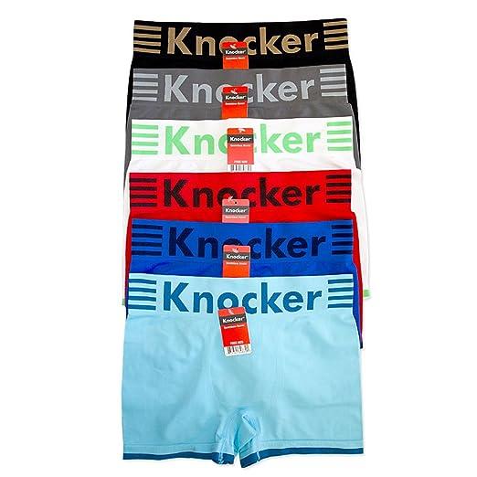 6dc39ea19d2f Amazon.com: 12 Men Boxer Briefs Knocker Seamless Microfiber Underwear  Wholesale One Size New: Health & Personal Care