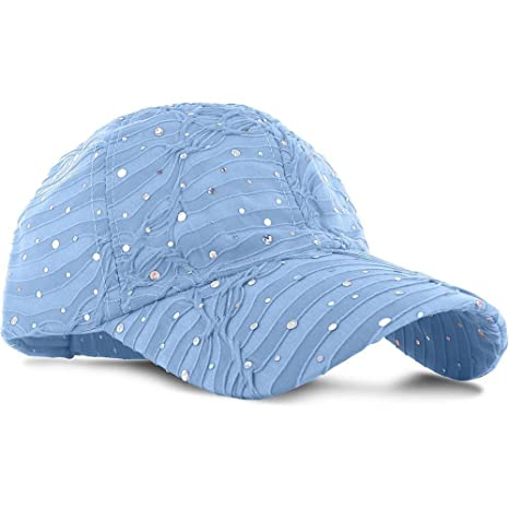 455ef8130f28a Image Unavailable. Image not available for. Color  9Proud LB11 Women Lady  Summer Hat Sun Golf Glitter Sequin Baseball Cap