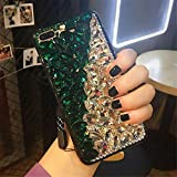 5c cases with gems - Case for iphone 5C,Luxury 3D Handmade Sparkle Stunning Stones Crystal Rhinestone Bling Full Diamond Gemstone Glitter Case for Apple iphone 5C(D Green/White)