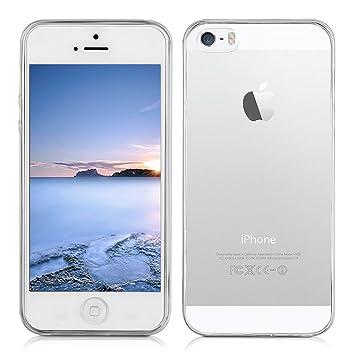Yunbaozi Funda iPhone Carcasa iPhone 5S Transparente TPU *[Ultra Suave]* Caso Flexible Delgado Funda Suave de Protectora Anti-rasguños Anti Choque ...