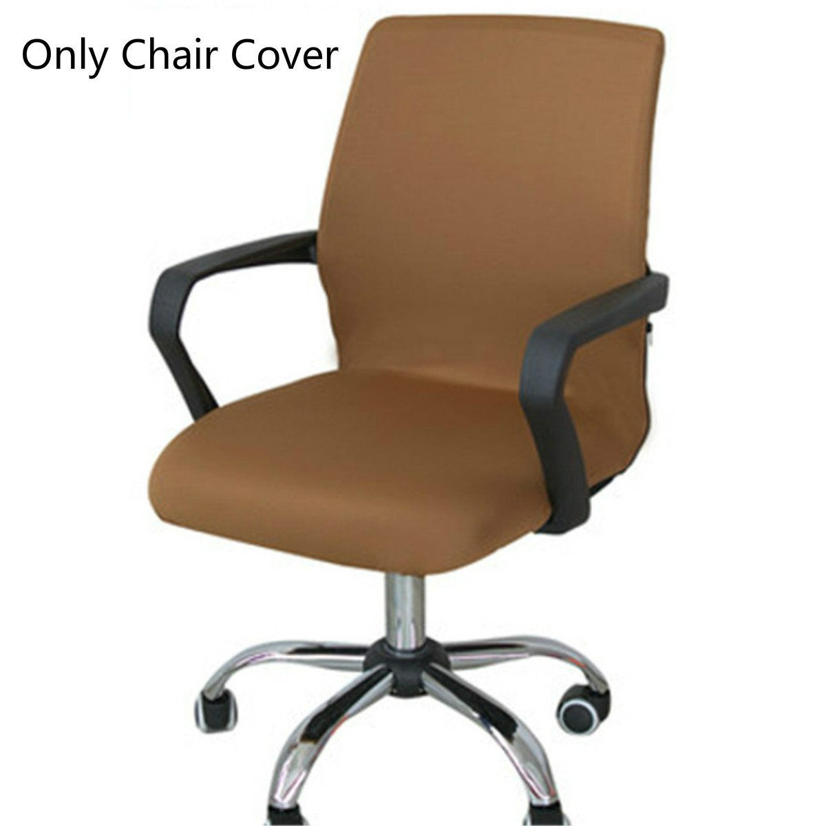 Caveen Office Chair Cover Computer Chair Universal Boss Chair Cover Modern Simplism Style High Back Large Size (Chair not included) coffee medium by Caveen