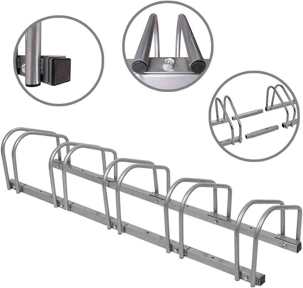 FROADP Galvanis/é 2 V/élos Verrouillage S/écuris/é Supports en Fixation Sol ou Mur Id/éal pour Garage Garage Magasin D/école De Jardin