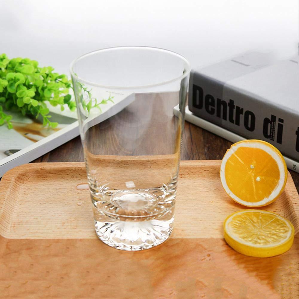 Chusea Kitchen Tea Set Porcelain Drinkware Set Saucers Heat-Resistant Lead-Free Glass Cup Transparent Creative Water Glass Beer Mug