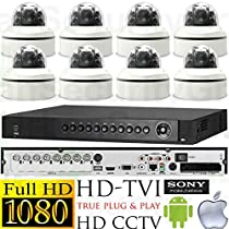 USG HD-TVI 8 Camera 2MP 1080P Video Surveillance System * 1x 8 Channel DVR + 8x 2.8-12mm Dome Cameras * 1080P @ 30FPS Live & Record * IP68 IK10 PRO GRADE * Sony DSP * Apple Android Phone App