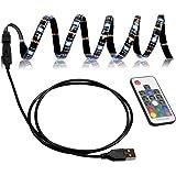 LED テープライト TVバックライト テレビ PC照明 目の疲れを取る USB接続 リモコン操作 強粘着両面テープ仕様 カラー選択 切断可能 防水防塵 SMD5050RGB LEDライト 屋内外装飾 (2M)