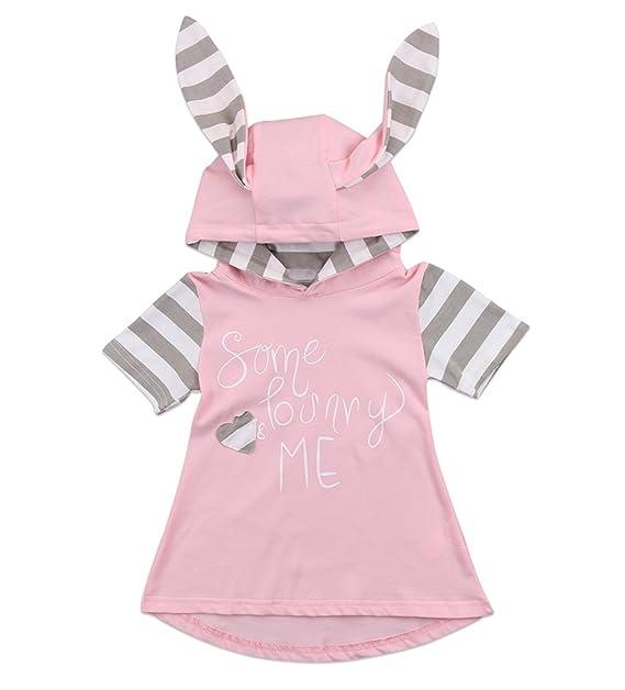 Amazon.com: gllive bebé niñas orejas de conejo vestido de ...