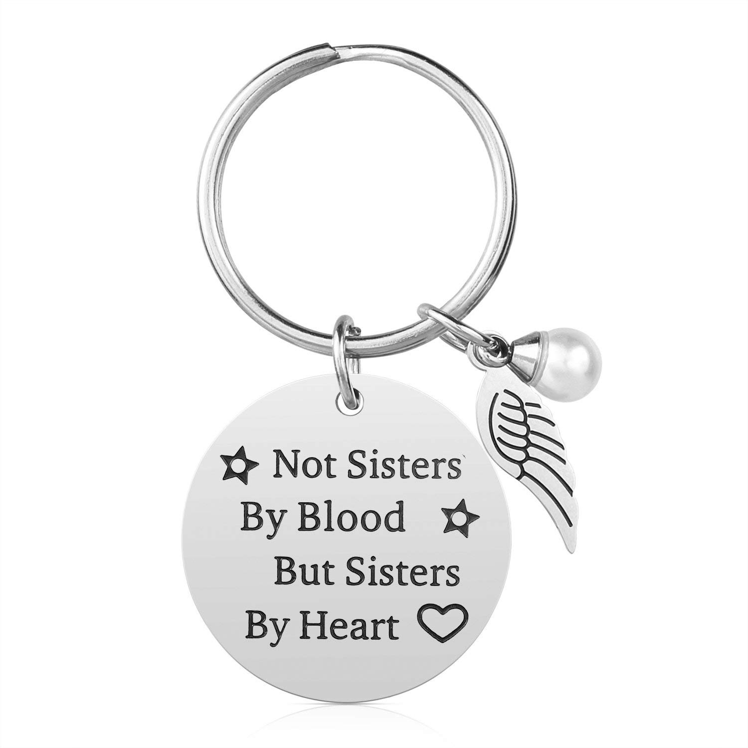 MOMIKA Women Friendship Gifts Not Sisters By Blood But Sister Heart Perfect Gift Ideas For Teens Girls Birthday
