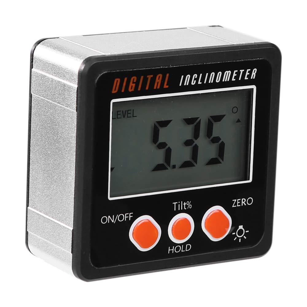 Digital Inclinometer Level Box Protractor Angle Finder Gauge Meter Bevel Magnet