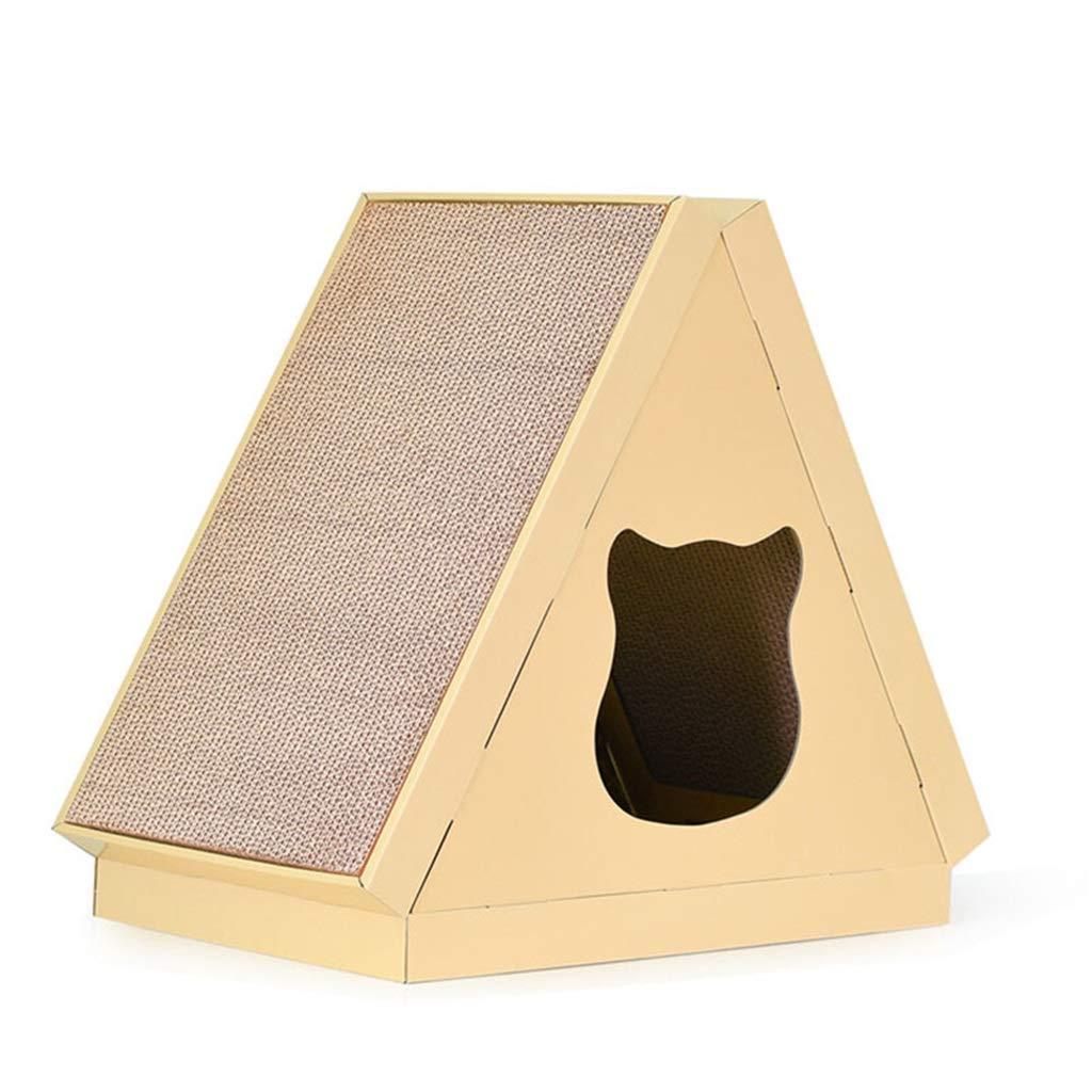 DSADDSD Pet Supplies Pet Bed Triangle Flat Cat House Cat Scratch Board Pet Claw Toy Warm Cat Litter