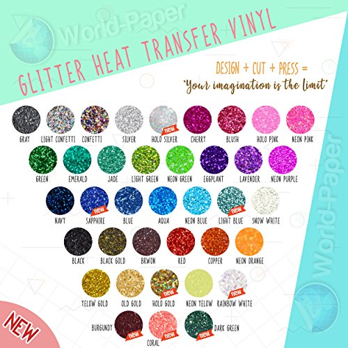 Vinyl 3 Yard Roll (Glitter Heat Transfer Vinyl Roll 10