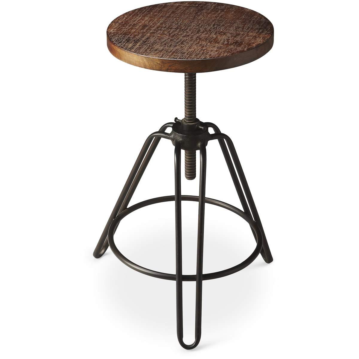 Wondrous Butler 2050025 Trenton Metal Wood Revolving Bar Stool Machost Co Dining Chair Design Ideas Machostcouk