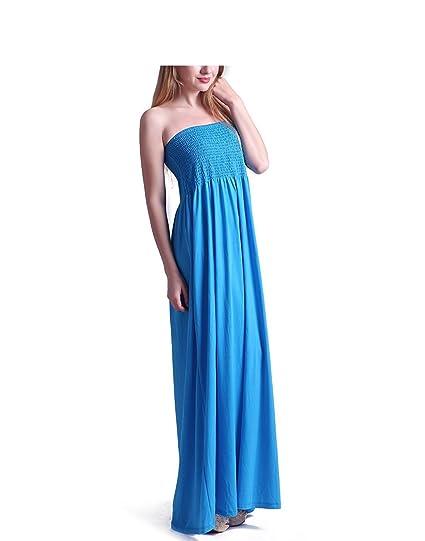 Tina Vent Beautiful Women\'s Strapless Dress Plus Size Tube Top Long Skirt  Sundress Cover Up