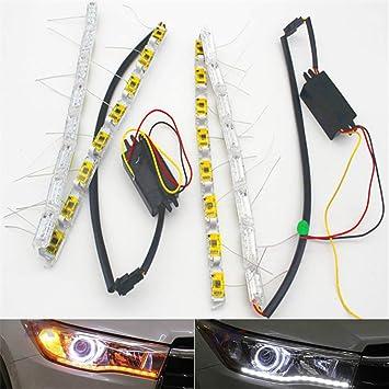 Switchback Flowing Car DRL LED Knight Rider Turn Signal Brake Light Strip 2*