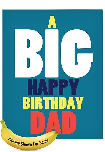 Amazon Com J5973bfg Jumbo Birthday Father Greeting Card Big Happy
