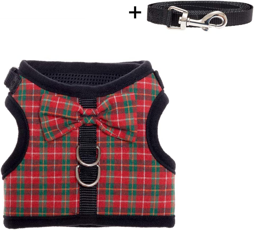 Large Ami Play Grand Cotton Dog Harness Soft and Durable with Adjustable Handles Black