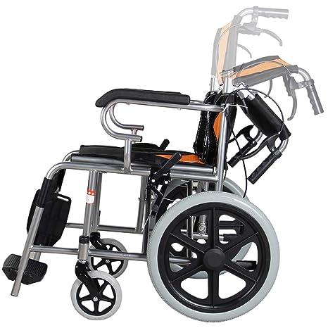 Wheelchairs Transporte Ligero De Ruedas Plegables para Adultos, con Frenos De Freno, Ligero Transporte