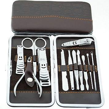 Malayas® Kit de 12 pzas Herramientas de Manicura Pedicura ...