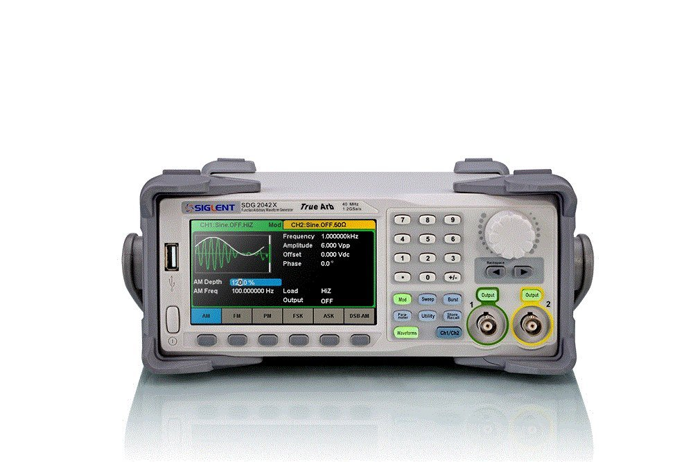 Siglent Technologies SDG2042X Arbitrary Waveform Function-Generators, 40 MHz, Grey