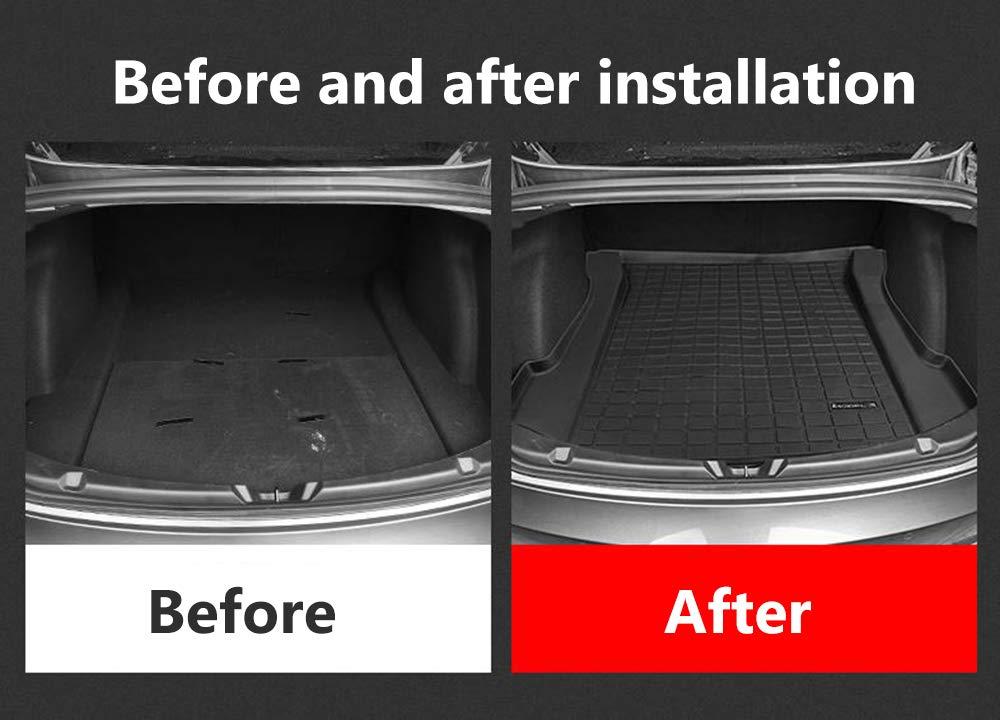 Black Fit Tesla Model 3 Car Rear Trunk Storage Mat Cargo Tray Trunk Waterproof Protective Pads Mat Compatible Trunk Mat