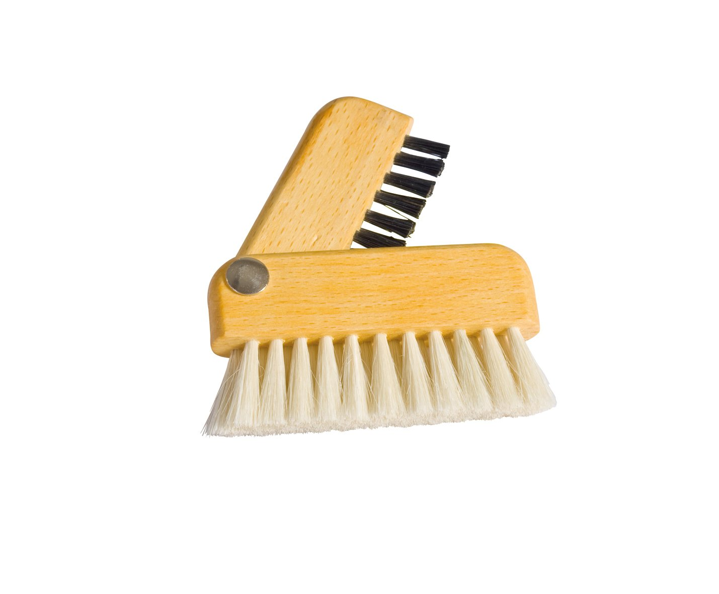 REDECKER Goat Hair/Natural Pig Bristle Laptop Brush with Oiled Beechwood Handle, 3-Inches