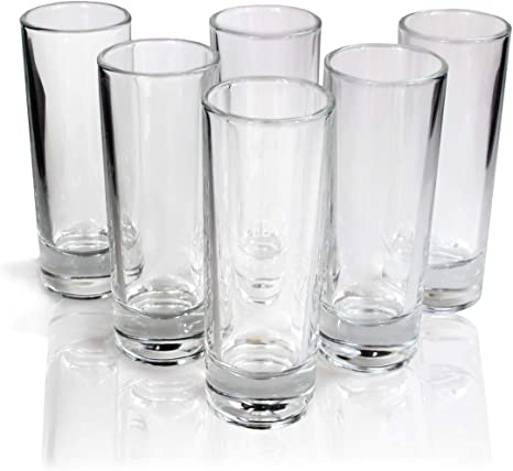 Cutehom Tall Tequila Juego De Vasos De Chupito 6 Unidades Transparente Home Kitchen