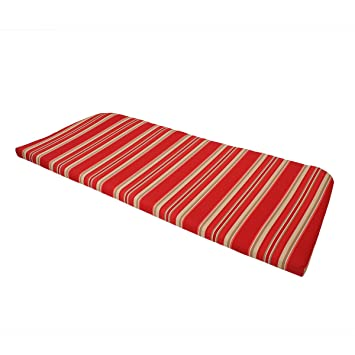 Outdoor Patio Bench Cushion Trapezoid 49.5u0026quot;L X 20u0026quot;W X 1u0026quot;H