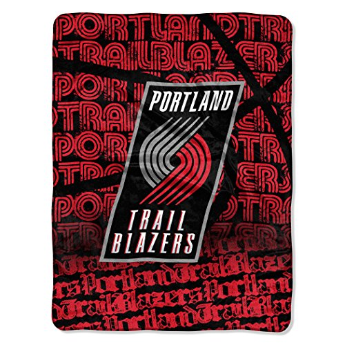 Officially Licensed NBA Portland Trail Blazers Redux Micro Raschel Throw Blanket, 46