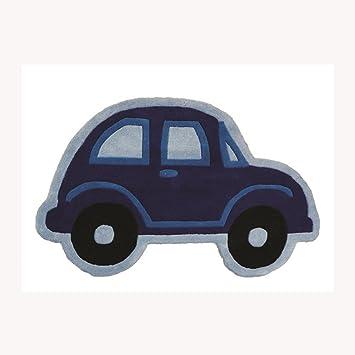 Boy s azul extra suave no cobertizo coche de carreras alfombra Kiddy (80 cm