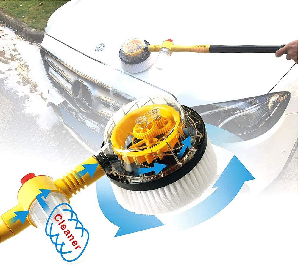 Car Wash Tool, Portable Automatic Rotating Car Wash Cleaner With 10pcs Multifunctional Effervescent Clean