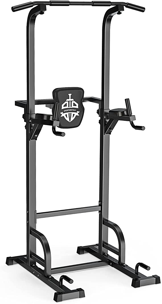 Sportsroyals Power Tower Dip Station Pull Up Bar
