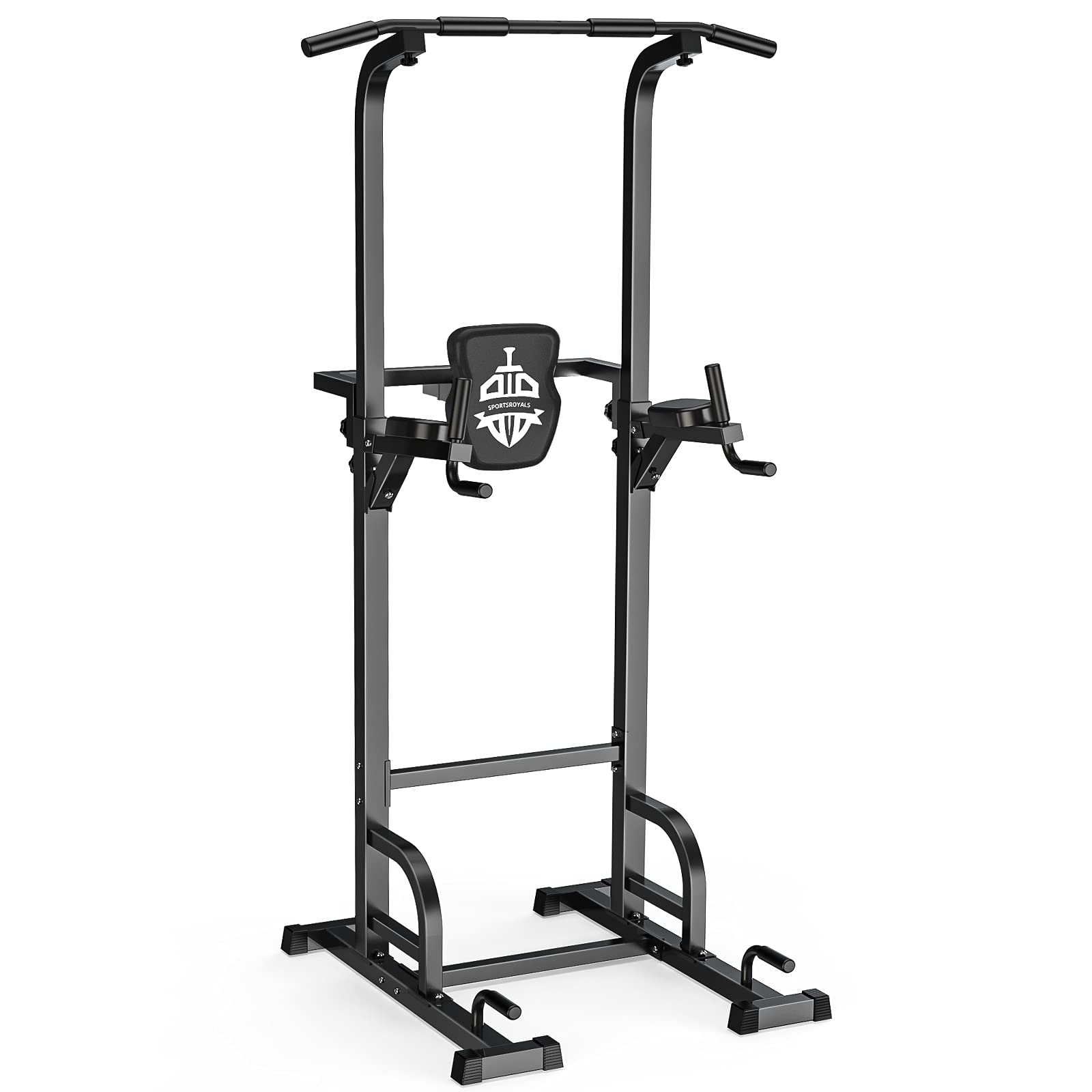 Sportsroyals Power Tower Dip Station Pull Up Bar for Home Gym Strength Training Workout Equipment, 400LBS.