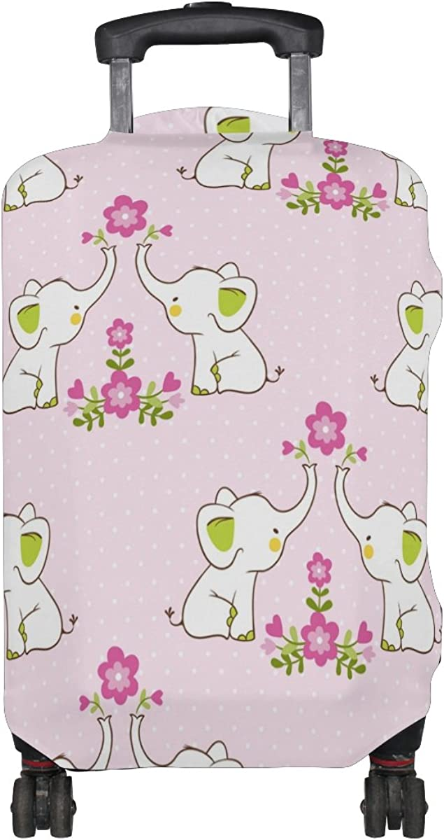 LAVOVO Floral Elephants Luggage Cover Suitcase Protector Carry On Covers