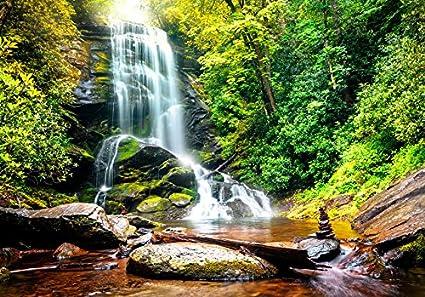 murando Papier peint intiss/é 400x280 cm D/écoration Murale XXL Poster Tableaux Muraux Tapisserie Photo Trompe loeil nature paysage cascade 10110903-41