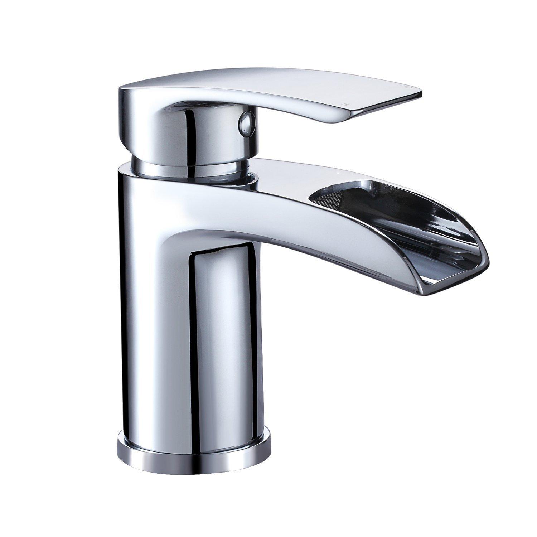 Grifo mezclador llenador de ba/ñera con teleducha de hidromasaje Hapilife Grifer/ía monomando para ba/ño ducha visto en cascada con filtro de agua