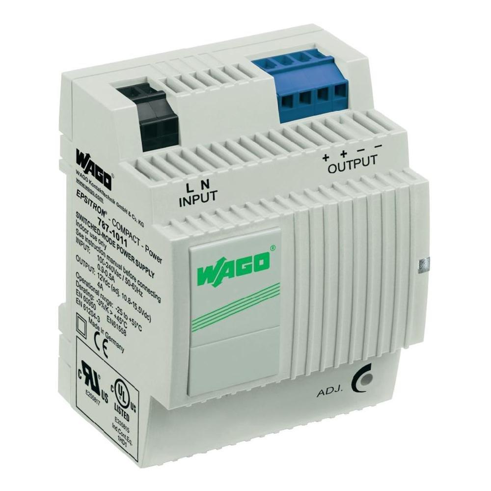 Wago EPSITRON/® COMPACT Power 787-1011 Hutschienen-Netzteil 12 V//DC 4A 48W 2 x DIN-Rail