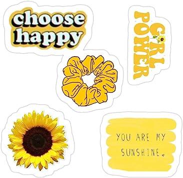 Sticker Vinyl Decal for Cars, Water Bottle, Fridge, LaptopsOrange Yellow Aesthetic Sticker Pack Stickers (3 Pcs/Pack): Amazon.es: Bricolaje y herramientas