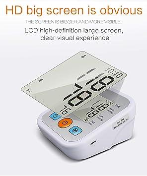 MLYWD Tensiómetro de Brazo Digital, Medical Monitor Eléctrico de Presión Arterial Medición Automática de la Presión Arterial y Pulso de frecuencia ...