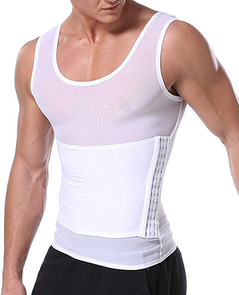 Men Body Shaper Slimming Vest Tummy Firm Control Tank Top Compression Undershirt