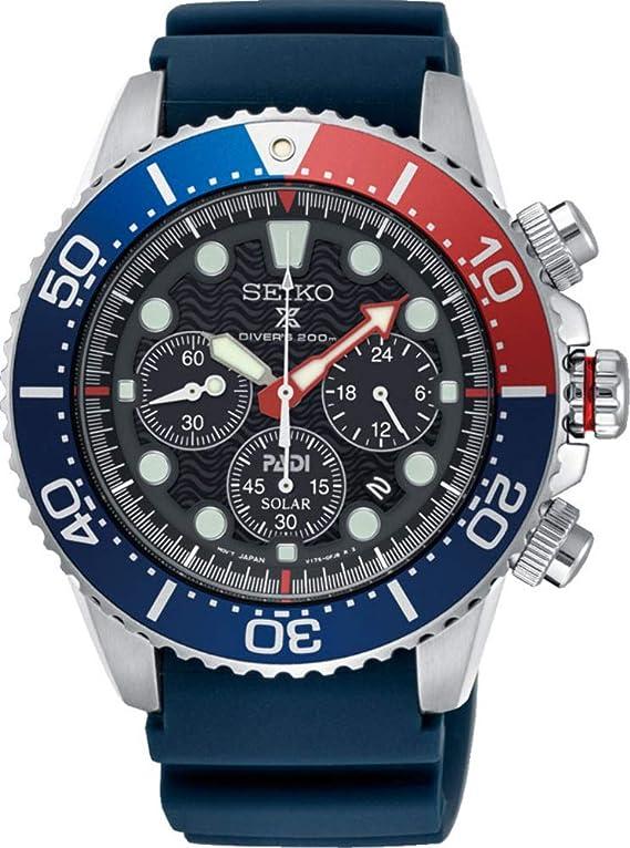 SEIKO PROSPEX PADI Special Edition Chronograph Solar Diver's 200M Pepsi Bezel SSC663P1