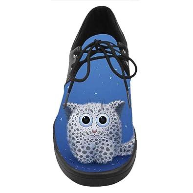 Dalliy Personalizado Leopardo de Nieve Slip-EN Los Zapatos de Lona de Las Mujeres U68wA9