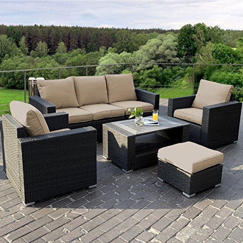 Top 10 best all weather resin wicker rattan patio furniture reviews 2017 on flipboard Plastic wicker patio furniture
