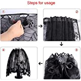 BranXin(TM) Sp id er Web Landshade Topper or Lamp Shades Halloween Decorations Party Supplies Multifunction Black Lace Fireplace