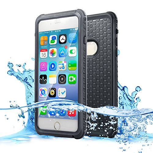 Dailylux iPhone 6 Case,iPhone 6s Waterproof Case,Normal or Underwater Dual-Use Protective Cover for iPhone 6/6s,Dustproof Snowproof Shockproof Case for Boating/Hiking/Swimming/Diving-Black