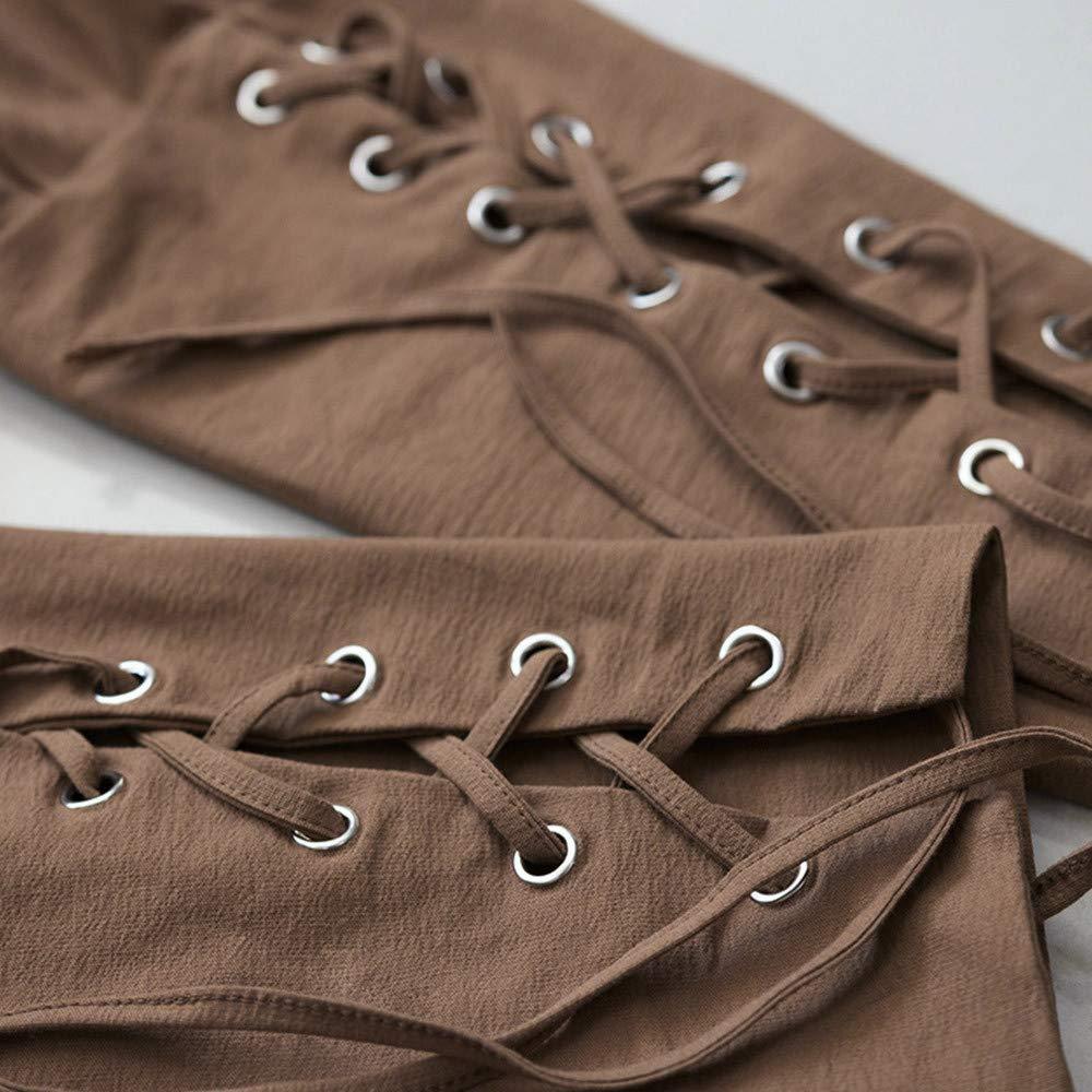 Molyveva Men Fashion Drawstring Sweatpants Autumn Jog Pants Solid Casual Trouser by Molyveva Men Pants