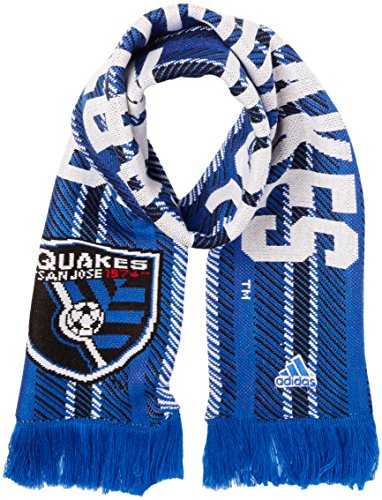 fan products of MLS San Jose Earthquakes Jacquard Scarf with Block Name, One Size, Blue