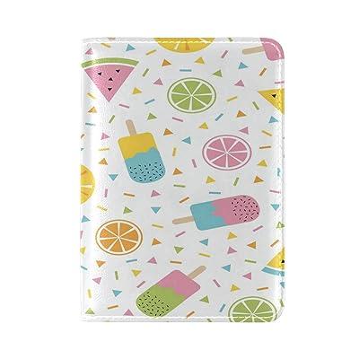 ALAZA Polka Dot Watermelon Lemon Fruit Leather Passport Holder Cover Case Travel One Pocket
