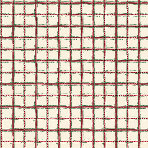 Connecting Threads 104 Inch Wide Backing Cotton Fabric 3 Yard Cut (Holiday Plaid) - Holidays Cotton Quilt Fabric