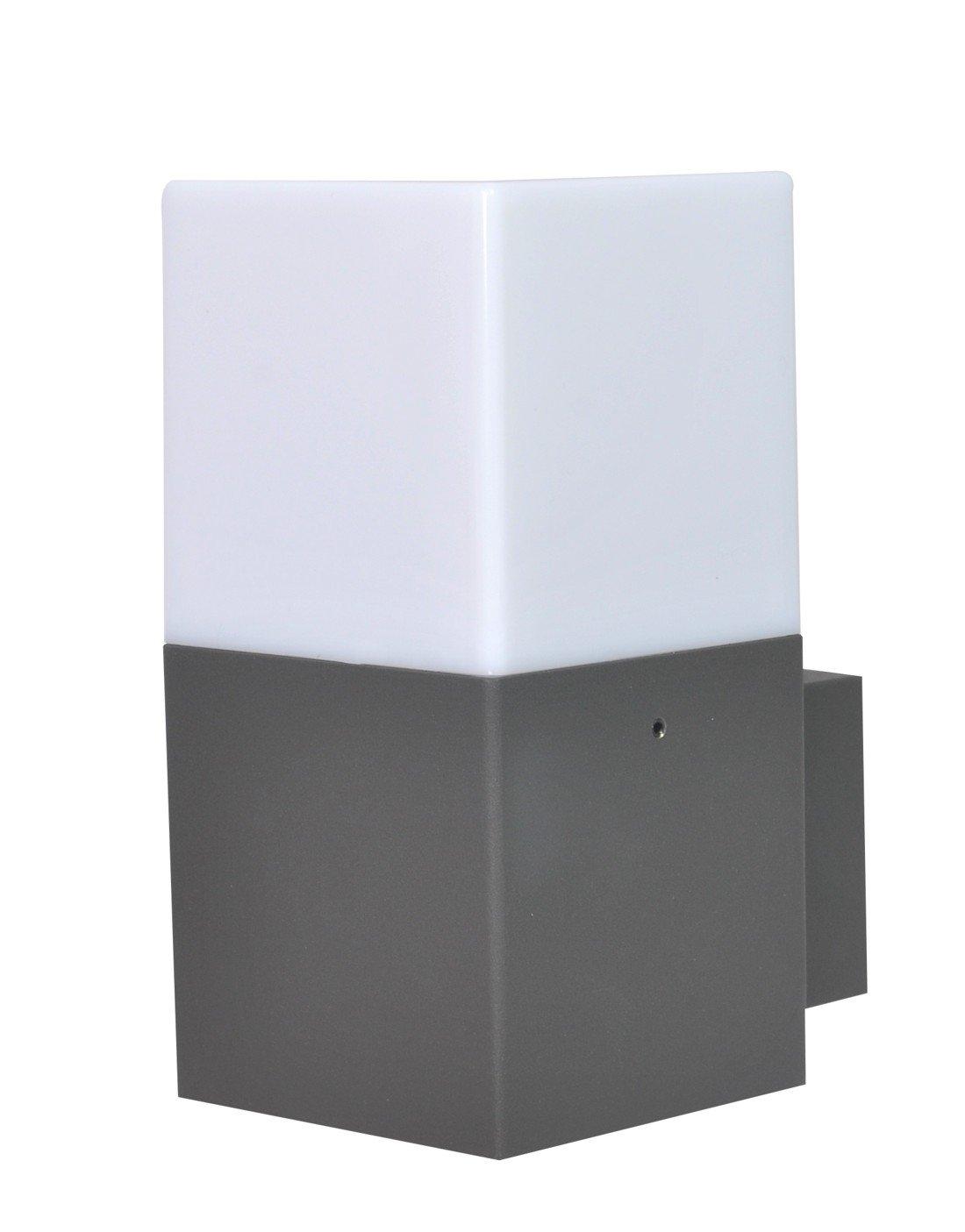 Trio Leuchten LED Außen-Wandleuchte, Aluminiumguss, inklusiv 2 x E14, 4 W, Höhe 33 cm, anthrazit 220060242 [Energieklasse A] Höhe 33 cm Trio Leuchten GmbH
